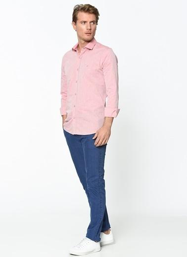 Wessi Slim Fit Uzun Kollu Gömlek Pembe